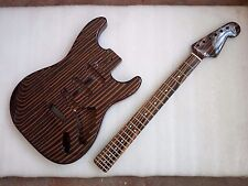 Best zebra wood  electric guitar body with 22 fret neck , Excellent handcraft