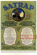 Satrap Photo Papier XL Reklame 1916 von Lehmann Steglitz Assyrer Fotopapier