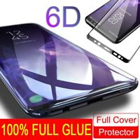Full Glue Adhesive Tempered Glass For Samsung Galaxy S9/S8/Plus/Note 9/Note 8 Sd