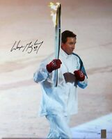 Wayne Gretzky Signed Autographed 16X20 Photo Running w/ Olympic Torch #/199 JSA