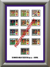 LIVERPOOL - 1973-74 - REPRO STICKERS A3 POSTER PRINT
