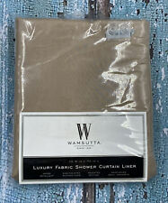 "New ListingWamsutta 72"" Luxury Fabric Shower Curtain Liner with Suction Cups - Tan"