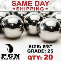 """20 QTY 5/8"""" Inch Tactical Cores Monkey Fist Paracord Chrome Steel Bearing Balls"""