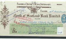 WBC. - ASSEGNO-ch1018-Usato -1944/7 - NORD DELLA SCOZIA Bank, Falkirk-SPECIALE