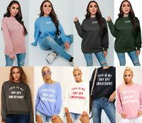 Women's Ladies Designer This is my Day Off Sweatshirt Slogan Jumper Sweater Top