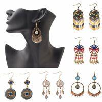 Vintage Bohemia Ethnic Tassel Hanging Drop Dangle Earrings Women Jewelry Party