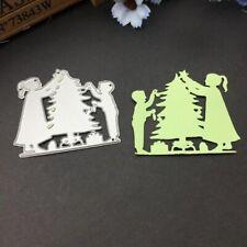 Christmas Tree Boy Girl Cutting Dies Stencil DIY Scrapbooking Paper Card Decor