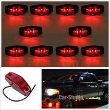8 pcs Red 12V 6 LED Side Marker Indicators Lights Rear Truck bus Trailer Lamp