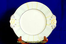 Art Deco Woods Ivory Ware Sandwich or Cake Plate Green Yellow Check 1930s