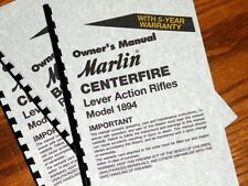 MARLIN Model 1894 Lever Action Rifle OWNERS MANUAL