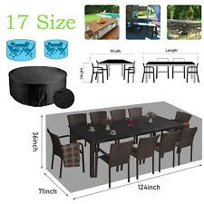 More details for garden outdoor outside waterproof cover furniture table patio rattan large sofa