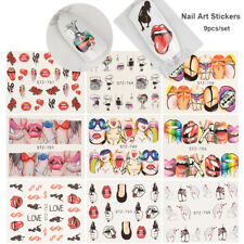 Fashion Nail Art Stickers Water transfer Decals Manicure Tips Nail Decoration