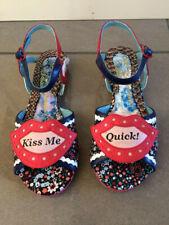 Irregular Choice Kiss Me (A) Navy Floral Open Toe Sandals
