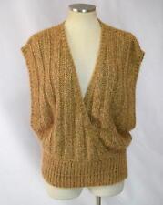 Vintage 90s Open Side Soft Luxe Fuzzy Wool Knit Oversized Sweater Vest Womens L
