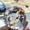 Feng Shui Clear Crystal Sphere Faceted Gazing Ball Prisms Suncatcher Decor US