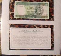 *Most Treasured Banknotes Solomon Islands 2 dollars 1986 P-13 UNC birthday 1952