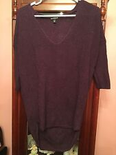 Express Women's Foiled Sweater Legging Tunic Sparkle Maroon Black Orchid Size XS