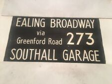 "London Linen Bus Blind Nov73 36""- 273 Ealing Broadway Southall Garage Greenford"