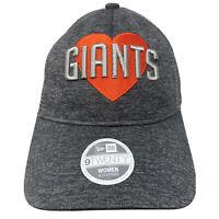 Womens New Era SAN FRANCISCO GIANTS 9Twenty 920 Gray Snapback Hat Cap