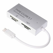 USB3.1 Type C to 3.0 MMS M2 SD TF S2 Memory Card Reader OTG Combo Adapter Silver