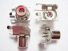 5x Rca Installation Douille Rouge 90° Leiterplatte #11U21