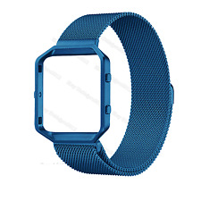 Milanese Stainless Steel Magnetic Loop Wrist Band Strap + Frame For Fitbit Blaze