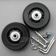 """Luggage Suitcase Replacement Wheels OD 65 (2.56"""") ID 6 W 22 Axles 35 Repair Set"""