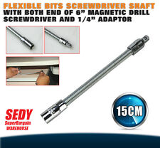 "15cm Magnetic Socket Key Bits Drive Shaft 1/4"" Adaptor Flexible Snake"
