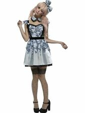 Broken Doll Annie Costume, Large, Halloween Fancy Dress, Womens, UK 16-18