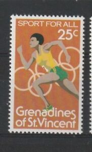 St VINCENT GRENADINES 1980 OLYMPIC GAMES 25c COMMEMORATIVE STAMP MNH