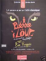 PUBLICITÉ 2011 RADIO CLASSIQUE SPECTACLE DE NOEL PIERRE ET LE LOUP - ADVERTISING