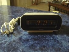 Vintage Sankyo Digital Dayglo Clock Model No. 202 Flip Alarm Clock White Rare