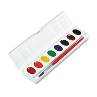Prang Professional Watercolors 8 Assorted Colors Oval Pans 00800
