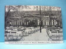 AK (568) Osterode a. Harz-Kurpark Restaurant-gelaufen-1928