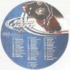 RARE+2009-10+Columbus+Blue+Jackets+Beer+Coaster+NHL+Hockey+Schedule+%21%21%21