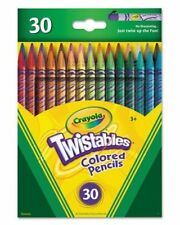 30 Assorted Crayola Twistables Colored Pencils Adult Coloring NO Sharping Req!