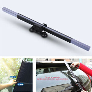Car Retractable Windshield Sun Shade Visor Folding Block Cover Front Window 46cm