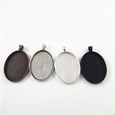 8 pcs Antique Style Oval 40x30mm Cameo Base Trays Pendant Findings Send Randomly