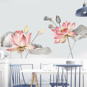 Lotus Blossom Wall Stickers Kids Home Decor Removable Vinyl Decal Art Mural Gift