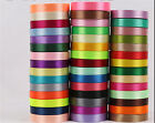 25 yards 13 Colors Width 6-40mm satin ribbon wedding sewing craft decoration New