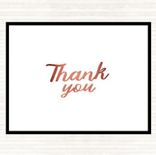 Rose Gold Thank You Quote Mouse Mat Pad
