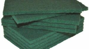 Premium Green Large Heavy Duty Catering & Kitchen Green Scouring Pads
