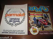 RIVISTA ROMBO 1981/34=INSERTO MODELLISMO=ARI VATANEN=PUBBLICITA' PARMALAT PIQUET
