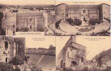 Lot de 4 cartes postales anciennes ORANGE théâtre antique