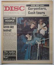 DISC & MUSIC ECHO Magazine 24/7/1971 Who Bert Jansch Jack Bruce Mott the Hoople