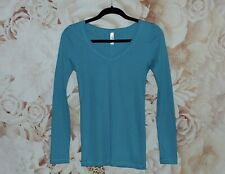 Victoria's Secret Tee Shop Long Sleeve Shirt Turquoise Women's Medium NWOT