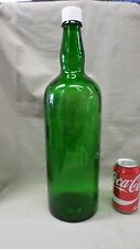 "2000MJ Huge 18.5"" Green Bottle w/Lid SCOTLAND Liquor Bottle Decor Storage EXC !!"