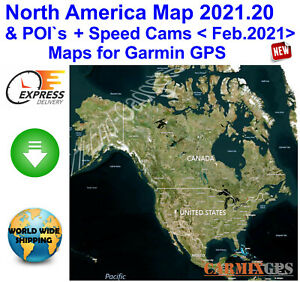 2021 North America City Maps nt+Speed Cameras for Garmin GPS Navigator & SD Card
