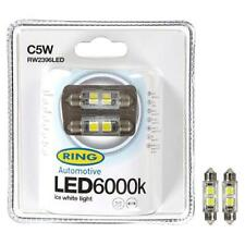 C5w 12v 239 LED SMD interior del coche Reg Placa Bombilla 6000k Ice White Anillo rw2396led