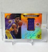 2015-16 PANINI GOLD STANDARD BASKETBALL D'ANGELO RUSSELL ROOKIE PATCH AUTO /199